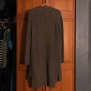 Abercrombie & Fitch Long Gray Cardigan